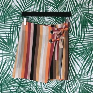 Urban Outfitters Striped Tie Front Skirt Small